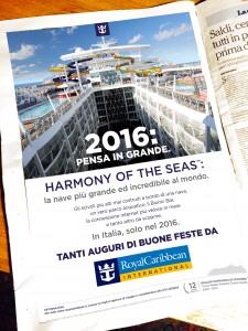 Pagina campagna auguri 2015 quotidiano locale